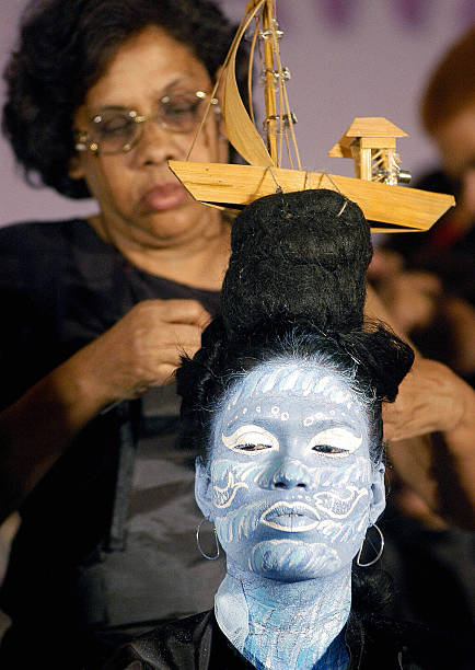 An Indian Hairdresser Applies A Bamboo M Pictures Getty Images
