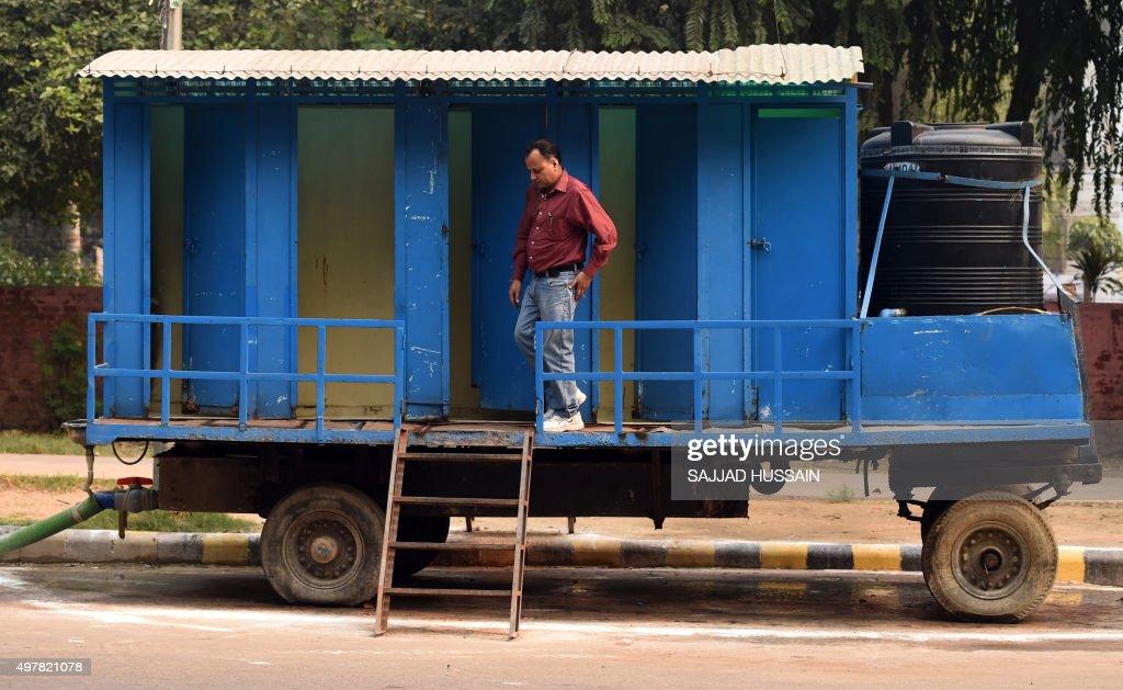 INDIA-HEALTH-SANITATION-TOILET : Fotografia de notícias