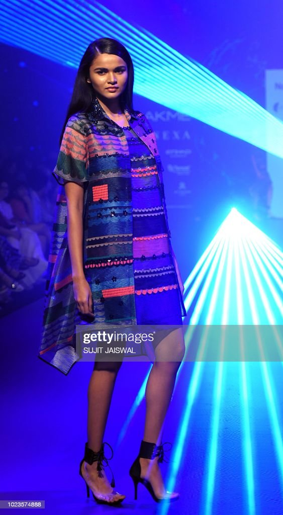 An Indian Model Showcases Creations By Designer Pankaj Nidhi At The News Photo Getty Images