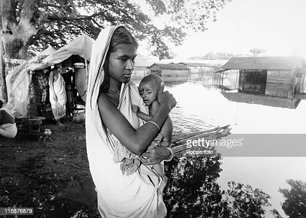An Indian mother and child at the Madrasas refugee camp two miles inside the Indian border on 17th September 1971