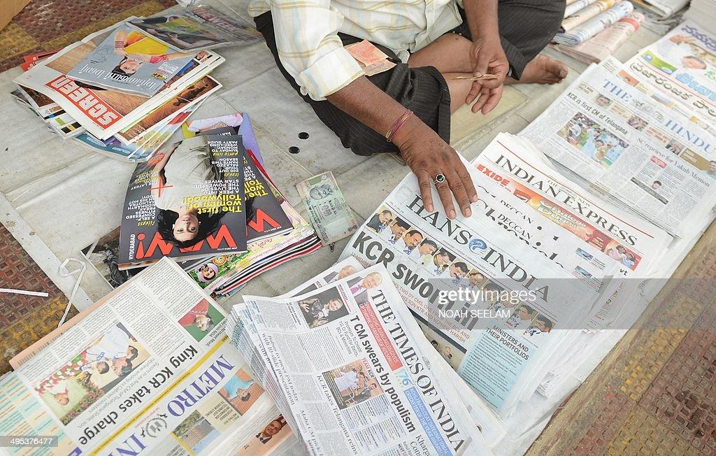 INDIA-POLITICS-TELANGANA : News Photo