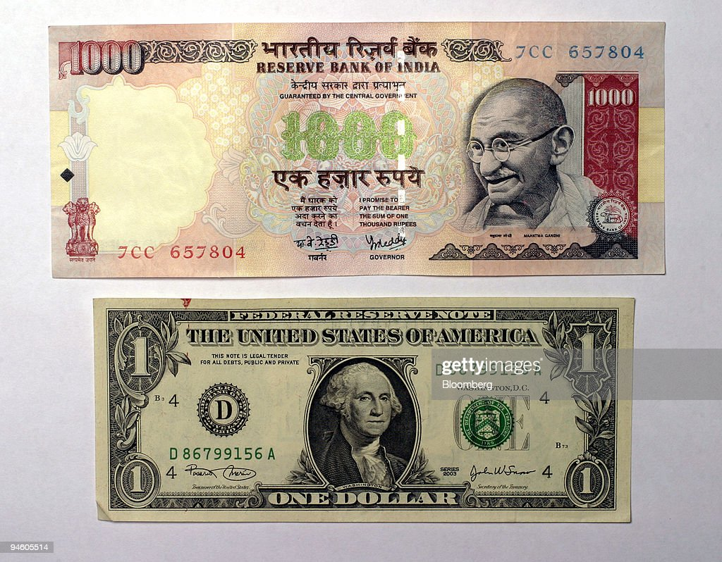 An Indian One Thousand Ru Note The Highest Denomination Of Currency Available Is Photographed