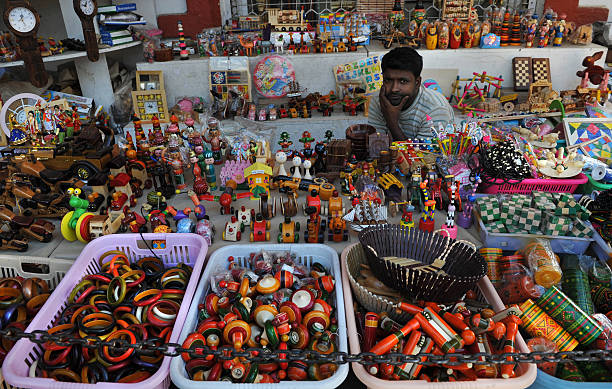 An Indian Shop Keeper Waits For Customer Pictures Getty