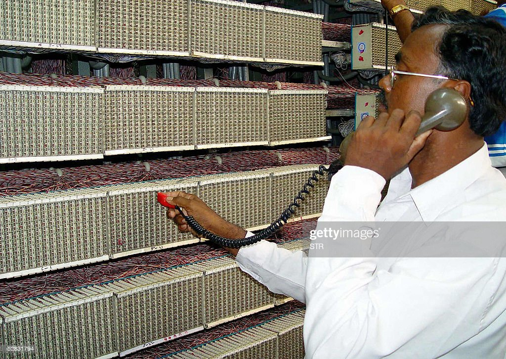 An Indian Telecom technician works on a Pictures   Getty Images