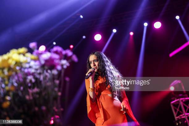 An IndianAmerican singer Raveena during International Java Jazz Festival in Jakarta Indonesia on March 2 2019