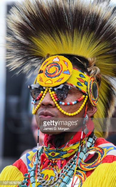 An indigenous group from the United States of America during Dance Rites at Sydney Opera House on November 24 2018 in Sydney Australia Dance Rites is...