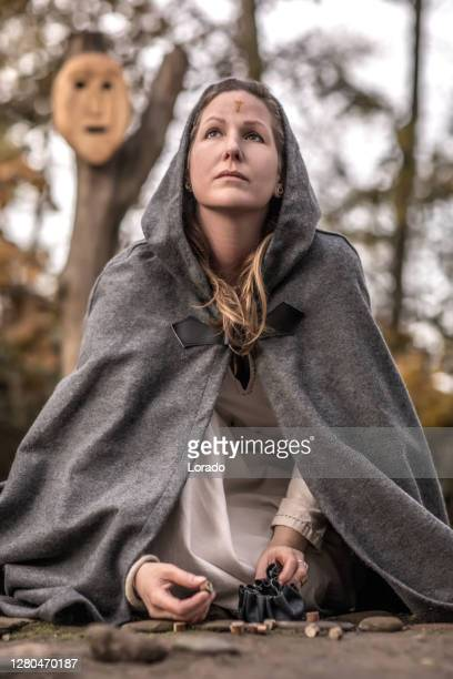 an individual viking female witch - historical clothing stock pictures, royalty-free photos & images