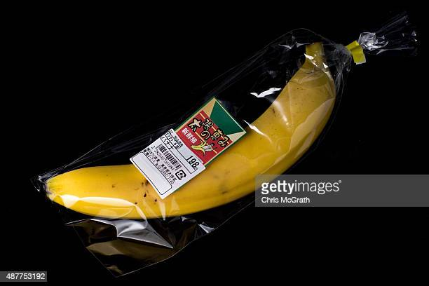 An individually wrapped banana from a convenience store or 'konbini' is pictured on September 11 2015 in Tokyo Japan Japan's Konbini stores are...