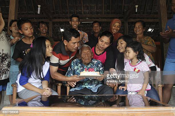 An Indonesian man Mbah Gotho claimed to be the oldest human in world's history is seen during his 146th birthday in Sragen Central Java Indonesia on...