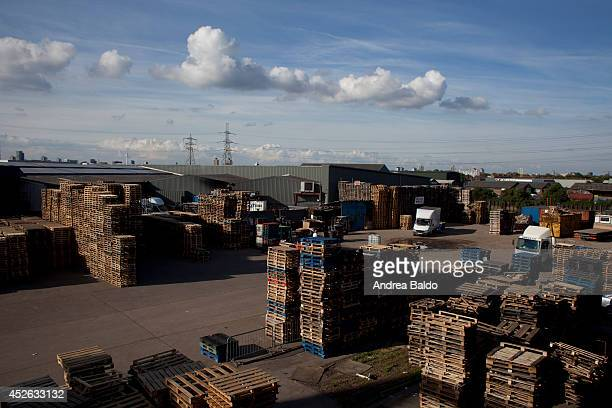 An industrial area between Canning Town and East India East London