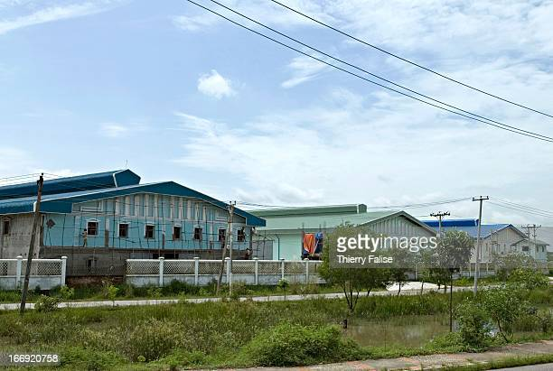 An industrial estate in a so-called satellite town built some 20 kilometers from Rangoon..