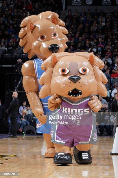 An inflatable Sacramento Kings mascot races during the game between the Milwaukee Bucks and Sacramento Kings on November 28 2017 at Golden 1 Center...