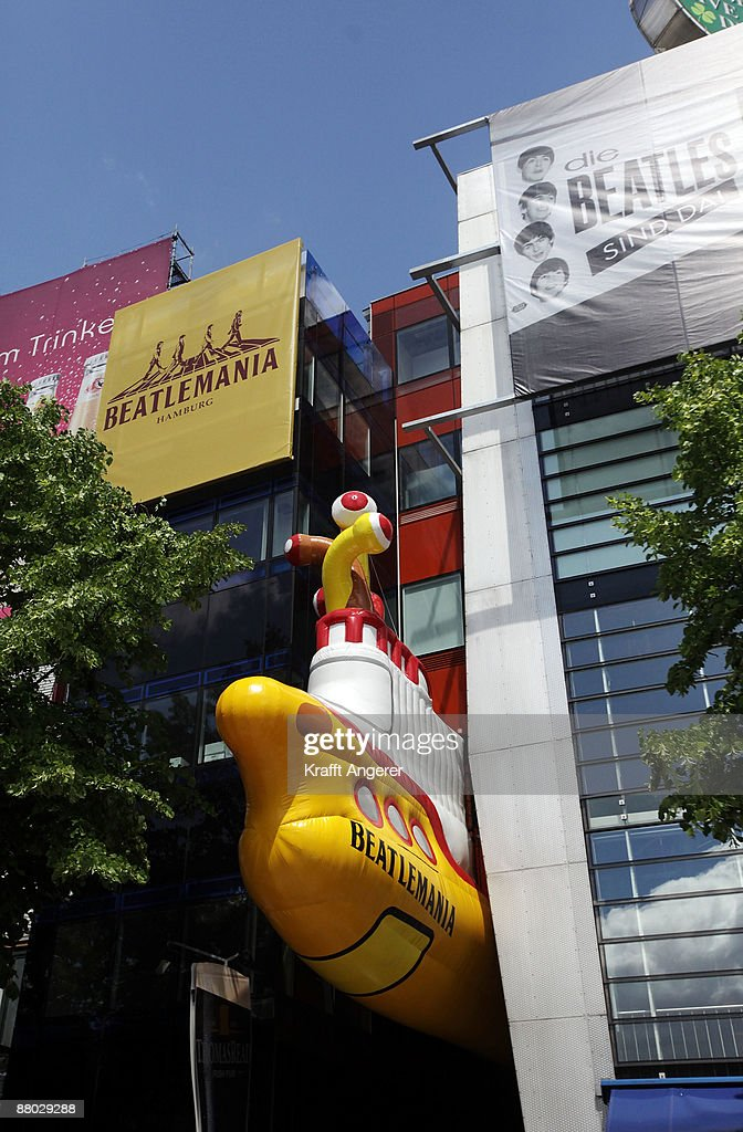 An inflatable yellow submarine is seen at the entrance of the Beatlemania exhibition on May 28, 2009 in Hamburg, Germany. The exhibition, which opens tomorrow, shows the development of the Beatles from their beginnings in Hamburg until they split up.