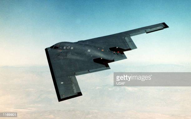 An inflight overview of the B2 bomber on its fifth test flight in an undated photo The USled bombing campaign in Afghanistan is in a third round of...