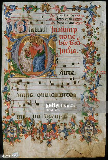 An initial from Pius II Book of Psalms annotated in Gregorian chant. It comes from the Orvieto cathedral and several painters were commissioned to...