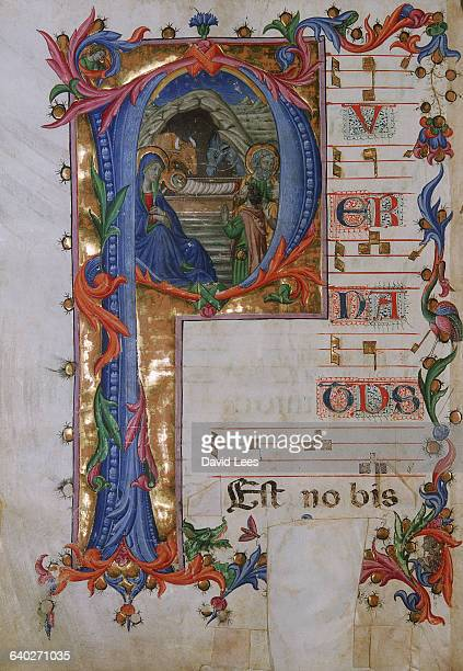 An initial from Pius II Book of Psalms annotated in Gregorian chant It comes from the Orvieto cathedral and several painters were commissioned to...