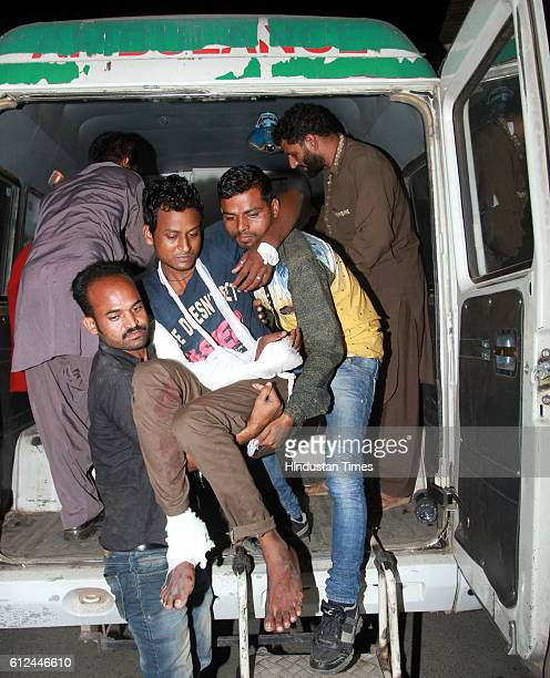 An injured who sustained splinter injuries is being shifted to the Government medical hospital after Pakistan Army resorted to heavy shelling and...