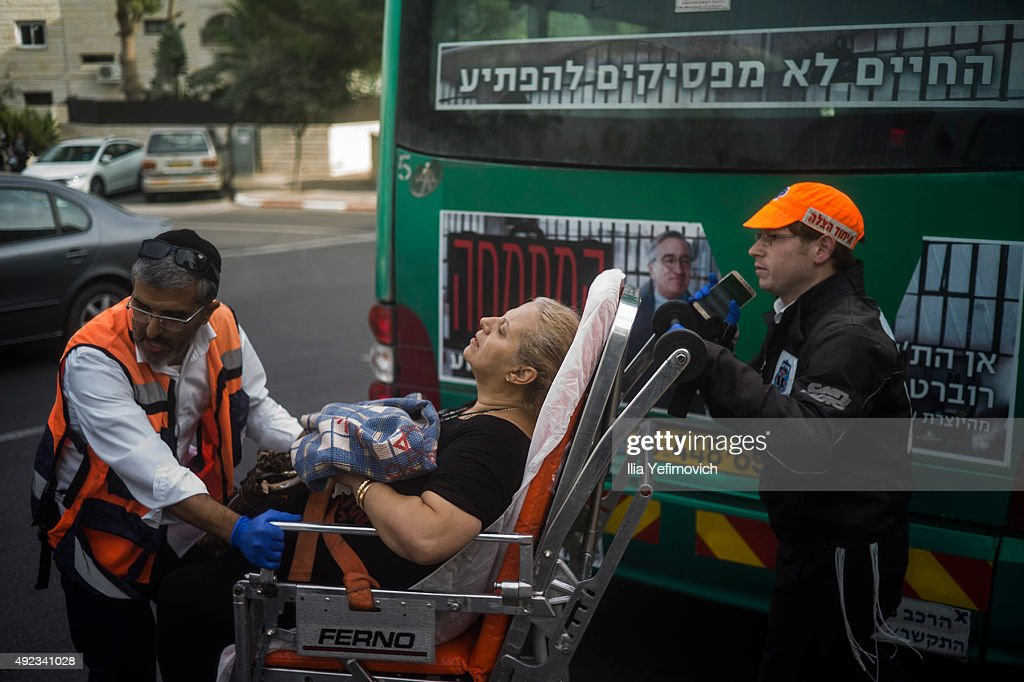 Tensions Rise As Further Stabbings Take Place in Israel : Nieuwsfoto's