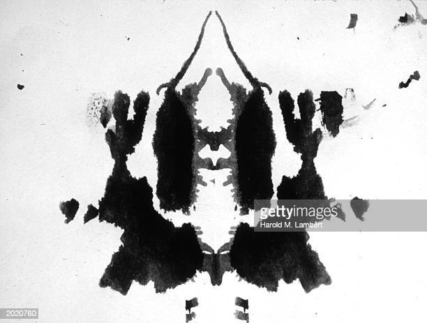 An inkblot pattern similar to those used in the Rorschach inkblot test a test used in psychology to determine underlying personality structure
