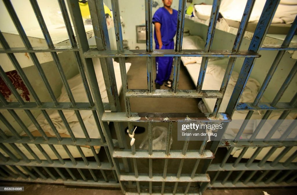 An inmate in a six-bunk cell inside the Men's Central Jail August 8, 2014 in Los Angeles. The cells rarely house all six inmates. Since the passage of Proposition 47, Los Angeles is among many counties that have witnessed a significant drop in the number of inmates housed in its jails, freeing up space to keep sentenced offenders behind bars for longer.