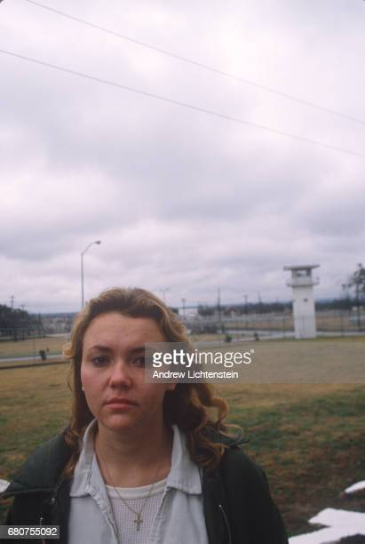An inmate poses for a photo at the Texas Department of Criminal Justice's women's prison the Mountainview Unit on October 1 1996 in Gatesville Texas