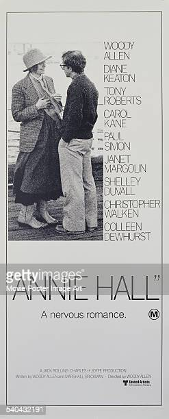 An insert for Woody Allen's 1977 romantic comedy 'Annie Hall' featuring Mia Farrow and Allen who also cowrote and directed the film