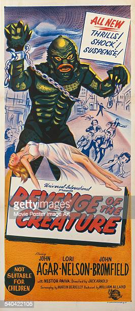 An insert promoting the Australian release of Jack Arnold's 1955 science fiction horror film 'Revenge Of The Creature' starring Lori Nelson The film...