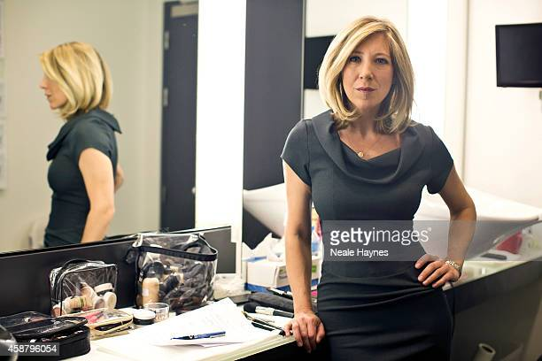 An inside look at the worldwide headquarters of the BBC news at Broadcasting House News presenter Joanna Gosling Photographed for Event magazine on...