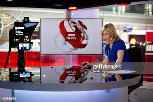 An inside look at the worldwide headquarters of the BBC news at Broadcasting House News presenter Sophie Raworth Photographed for Event magazine on...