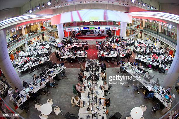 An inside look at the worldwide headquarters of the BBC news at Broadcasting House Photographed for Event magazine on June 17 2014 in London England