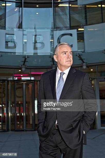 An inside look at the worldwide headquarters of the BBC news at Broadcasting House Presenter and newsreader Huw Edwards Photographed for Event...