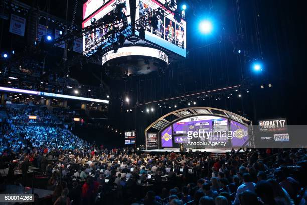An inside view of Barclays Center during NBA Draft 2017 in Brooklyn borough of New York United States on June 22 2017
