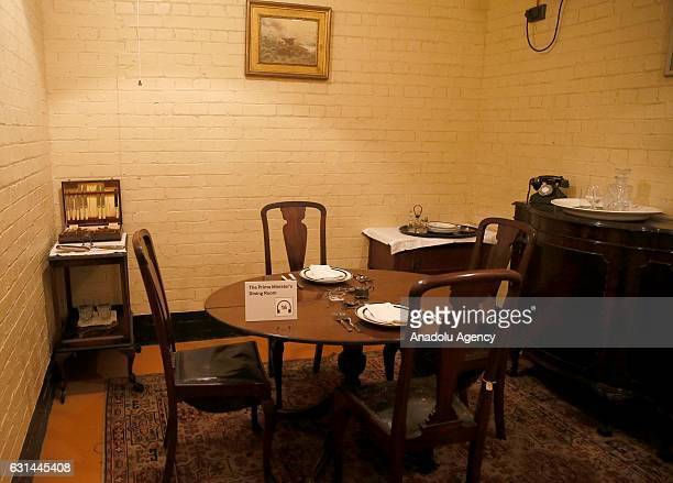 An inside view of Churchill War Rooms Museum in London, United Kingdom on January 11, 2017. The museum comprises the Cabinet and Churchill War Rooms...