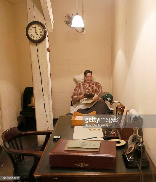 An inside view of Churchill War Rooms Museum in London United Kingdom on January 11 2017 The museum comprises the Cabinet and Churchill War Rooms...