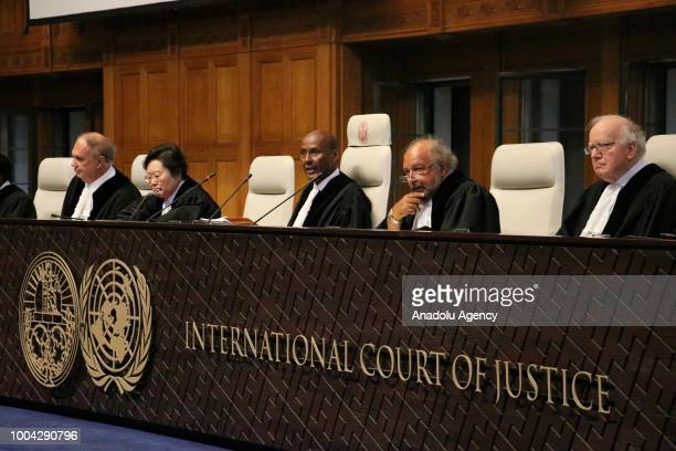 An inside view of International Court of Justice in The Hague, Netherlands on July 23, 2018. The International Court of Justice on Monday ruled that...