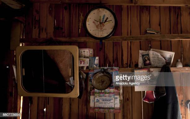 An inside view of Julio Bautista 's house displaced by the violence in GaitanaTolima in Bogota Colombia on November 27 2017 Bautista said 'I'm more...