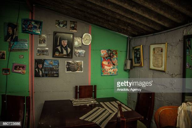 An inside view of Rocio Rianos' house in Bogota Colombia on November 27 2017 Bautista says 'I'm more than 70 years old but i have the energy of 40...
