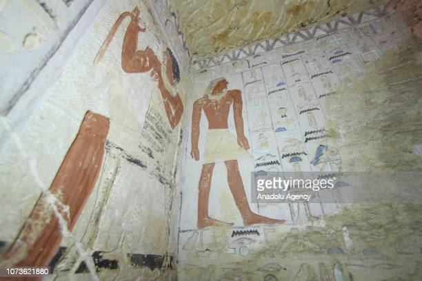 An inside view of Saqqara excavation site after a 4400YearOld Tomb belonging to Pharaohs era has been discovered in Giza Egypt on December 15 2018