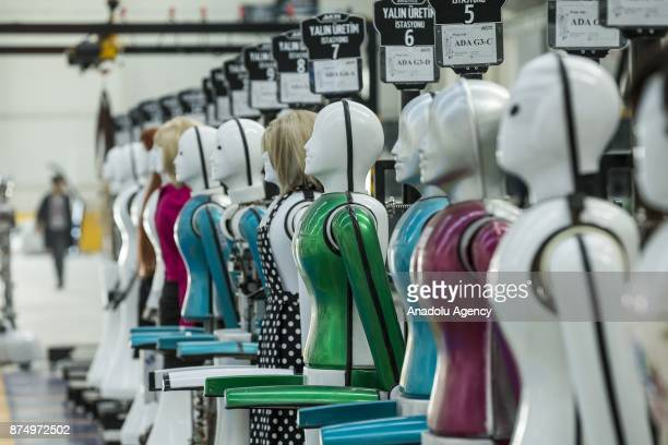 An inside view of the AknRobotics Turkey's first factory in the field of producing humanlike robots is seen in Konya province of Turkey on November...