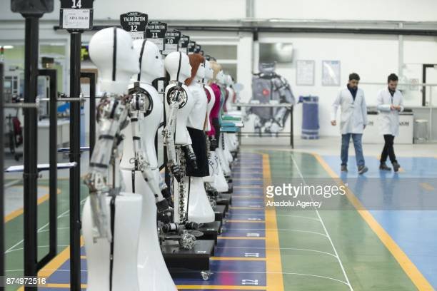 An inside view of the 'AknRobotics' Turkey's first factory in the field of producing humanlike robots is seen in Konya province of Turkey on November...