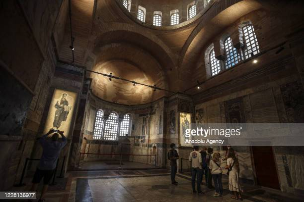 An inside view of the Kariye Mosque following a Presidential decision on it's opening to worship is published in the official gazette in Fatih...