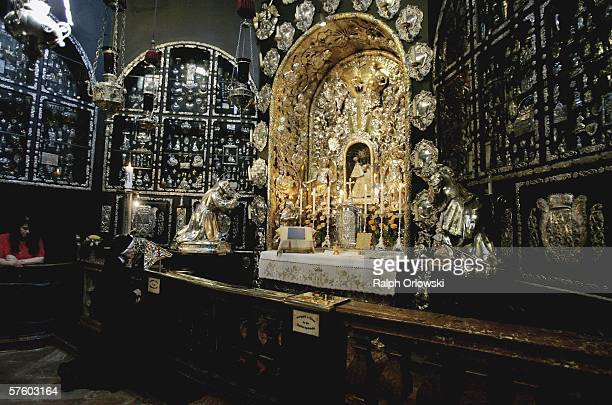 An inside view shows the venerated statue of Virgin Mary in the Gnadenkapelle on May 12 2006 in Altoetting Germany Pope Benedict XVI will visit the...