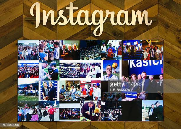 An Instagram wall in the social media room is already being populated for the Republican presidential debate hosted by CNN at The Venetian hotel in...