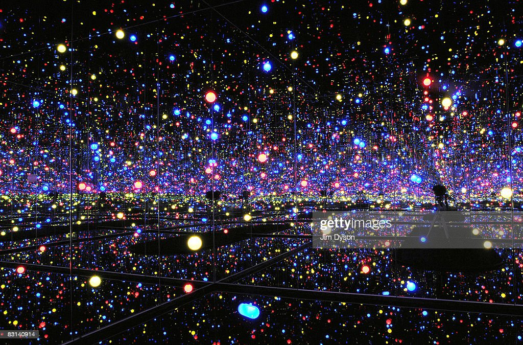 An installation by artist Yayoi Kusama at the Liverpool Biennial, International Festival Of Contemporary Art on October 4, 2008 in Liverpool, England. The festival is presented in galleries and public spaces across the city until November 30. Liverpool is the European Capital of Culture for 2008.