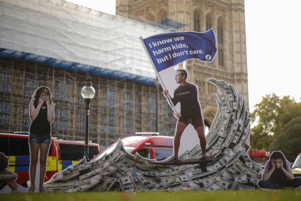 GBR: Facebook Inc. Protest Outside U.K. Parliament
