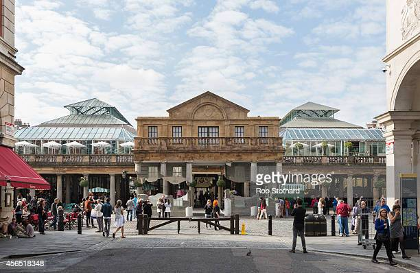 An installation entitled 'Take my lightning but don't steal my thunder' by British artist Alex Chinneck stands in Covent Garden on October 2 2014 in...
