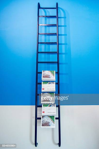 An installation is seen in the Australian Pavillion of the 15th Architecture Venice Biennale on May 27 2016 in Venice Italy The 15th International...