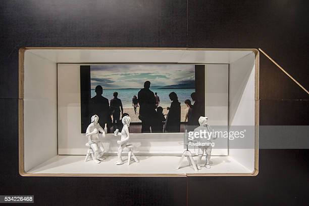 An installation is seen in the Croatia Pavillion of the 15th Architecture Venice Biennale on May 25 2016 in Venice Italy The 15th International...