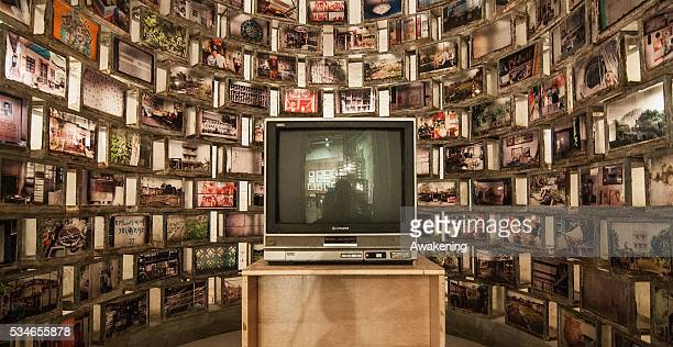 An installation is seen in the Singapore Pavillion of the 15th Architecture Venice Biennale on May 27 2016 in Venice Italy The 15th International...