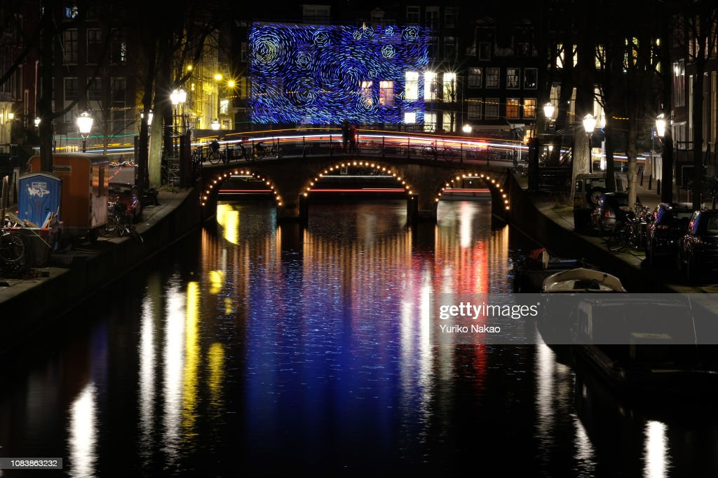 AMSTERDAM, NETHERLANDS - DECEMBER 14, 2018: An installation
